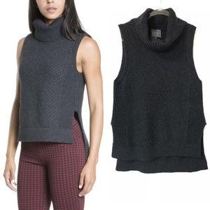 Leo & Sage Sweater Knit Vest Turtleneck :280